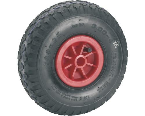 Tarrox Luftrad mit Kunststofffelge und Blockprofil, 260 mm geeignet für Sackkarren + Bollerwagen