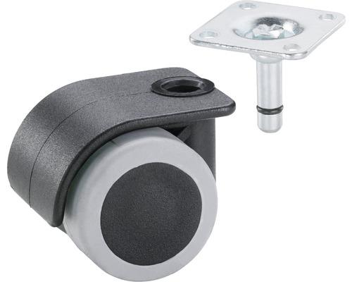 Roulette pour conteneurs, jusqu''à 70 kg, 35 x 50 mm noir/gris-0