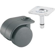 Roulette pour conteneurs, jusqu''à 15 kg, 35 x 48 mm-thumb-0