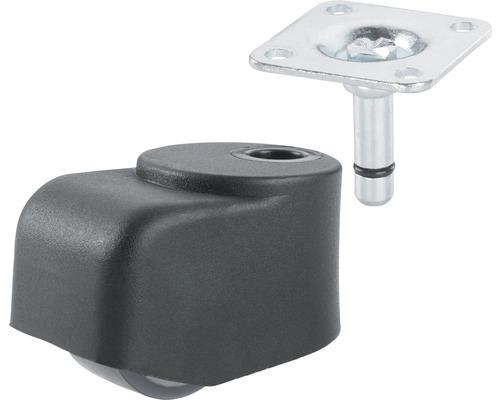 Transport-Geräte-Walzenrolle, bis 50 kg, 25 x 46 x 25 mm