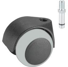 Roulette double pour appareils de transport, jusqu''à 40 kg, 50 x 60 mm-thumb-0