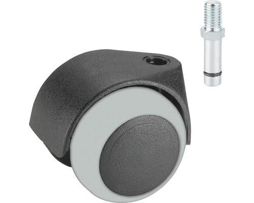 Roulette double pour appareils de transport, jusqu''à 40 kg, 50 x 60 mm-0