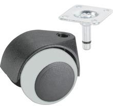 Roulette double pour appareils de transport, jusqu''à 40 kg, 50 x 64 mm-thumb-0