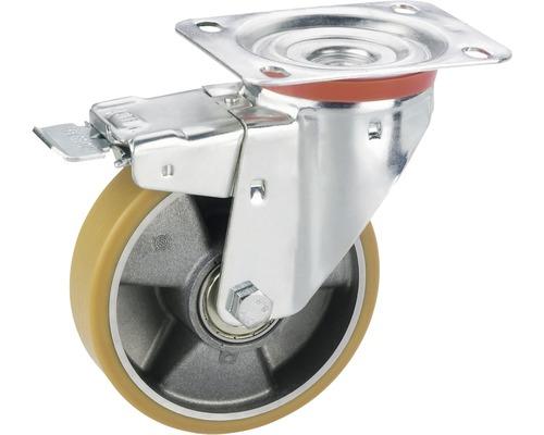 Roulette pivotante pour appareils de transport, jusqu'à 300kg, 150 x 190 x 40mm