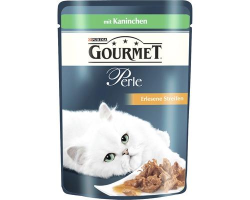 Nourriture humide pour chats, Gourmet Perle Délicieuses lamelles de lapin 85g