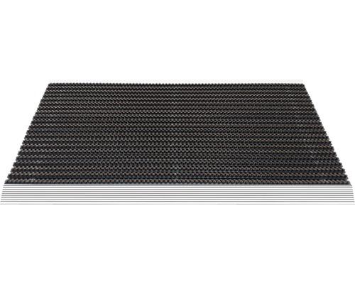 Paillasson aluminium Outline marron 50x80 cm