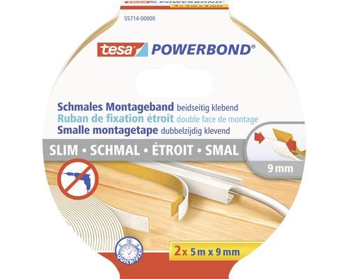 Ruban de montage tesa Powerbond double-face 5m x 9mm