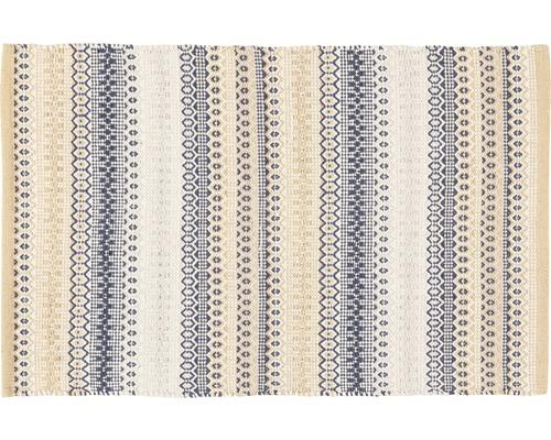 Tapis en chiffon Senegal brun/beige 50x80 cm
