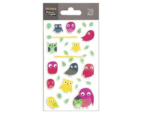 Sticker mural mini Chouettes 7,8 x 14,5 cm