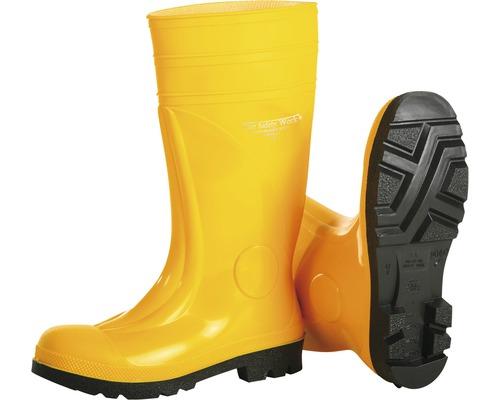 Bottes de sécurité S5 Safety sans phthalates, jaune, taille 39