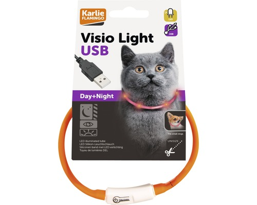 Halsband Karlie Visio Light LED 15-35 cm, orange