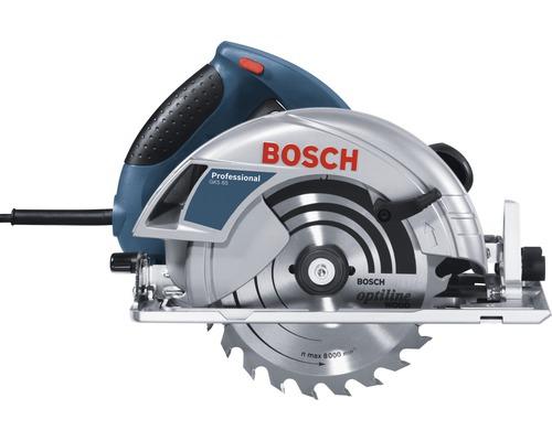 Scie circulaire portative Bosch GKS 65 avec 1x lame de scie circulaire et adaptateur d''aspiration