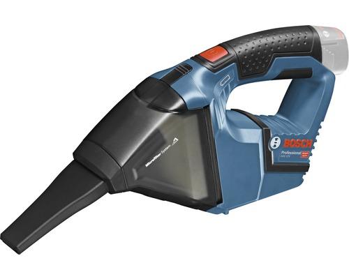 Aspirateur sans fil Bosch Professional GAS 12V avec 1 x filtre plissé plat et suceur droit sans batterie ni chargeur