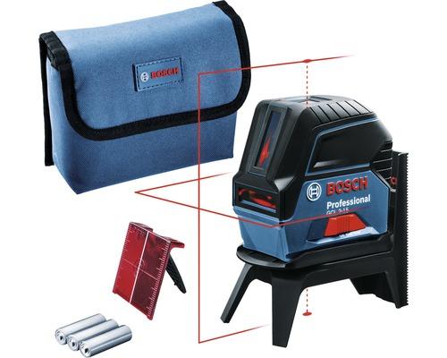 Laser Bosch Professional GCL 2-15 avec 3 piles 1,5 V-LR6 (AA) et cible laser
