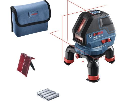 Laser lignes Bosch Professional GLL 3-50 avec 4 x pile (AA) et cible laser