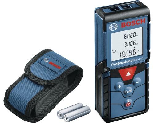 Télémètre laser Bosch Professional GLM 40 avec 2 x piles (AAA) et kit d''accessoires