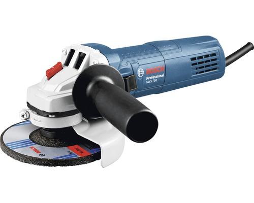 Meuleuse d''angle Bosch Professional GWS 750-125 (125 mm) avec disque à ébarber (125 mm)