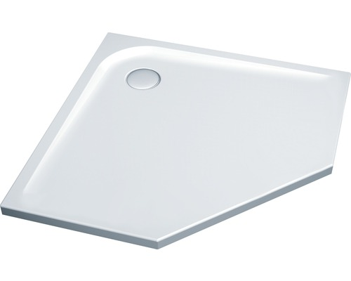 Duschwanne Ideal Standard ULTRA FLAT 5-Eck 90x90x13 cm weiß mit Styroporträger K199401