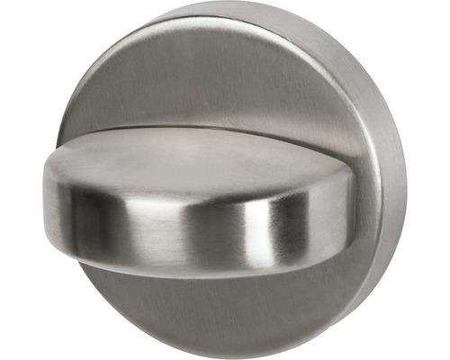 Rosette WC et salle de bains 52mm avec verrou acier inoxydable satiné