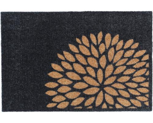 Tapis anti-salissures Flower cuivre 50x75cm