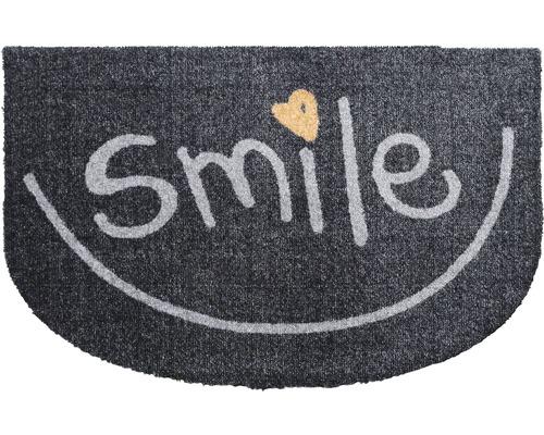 Paillasson anti-salissures Smile anthracite 50x75cm
