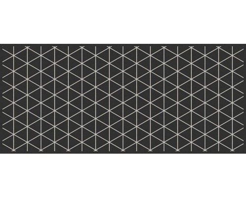 Paillasson long Triangle argenté 67x150 cm