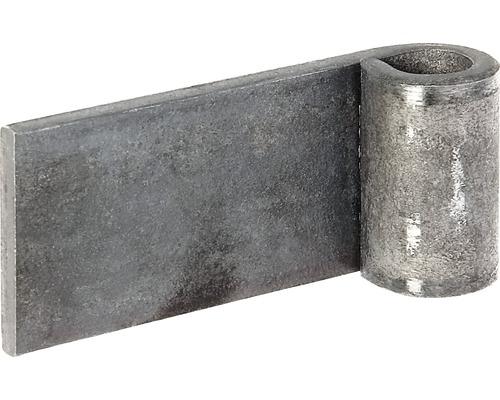 Charnière à souder brute ⌀ 13mm, bord-paumelle 80mm