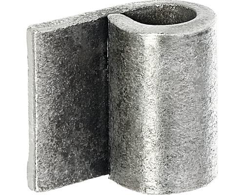 Charnière à souder brute ⌀ 13mm, bord-paumelle 30mm
