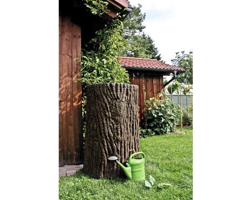 Cuve de collecte d''eau de pluie Evergreen 475 litres marron foncé