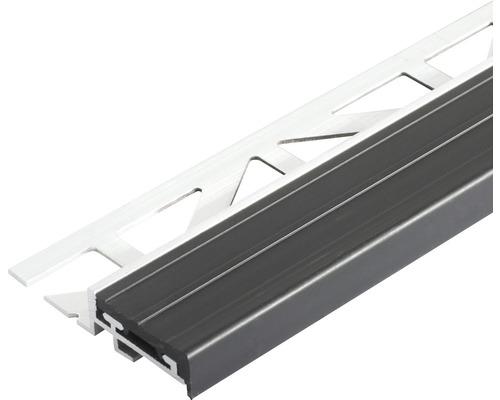 Treppenstufenprofil Dural Durastep Aluminium Länge 100 cm Höhe 9 mm