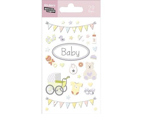 Mini-sticker autocollant 255 Birth 7,5x14,5 cm