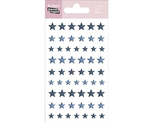 Mini-autocollant 245 Blue Stars 7,5x14,5 cm