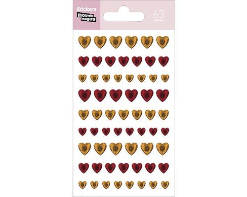 Mini-autocollant 242 Hearts or 7,5x14,5 cm