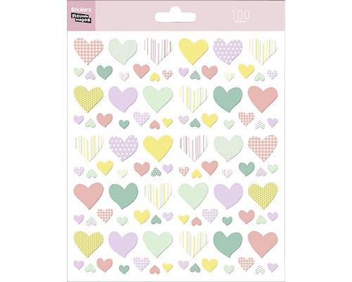 Mini-autocollants 316 Hearts