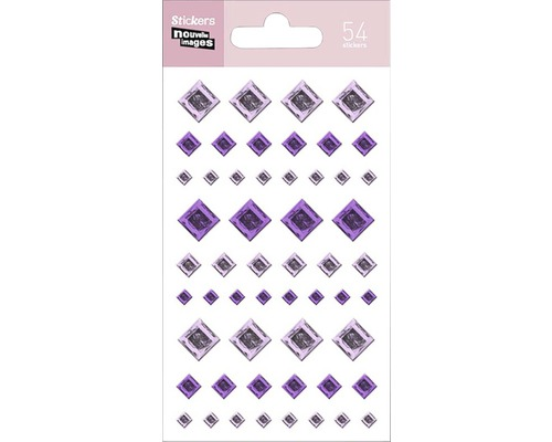 Mini-autocollant 248 Purple Dots 7,5x14,5 cm