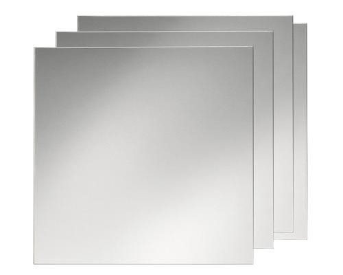Kit de carreaux miroir 30 x 30 cm 4 pi ces hornbach for Hornbach spiegel
