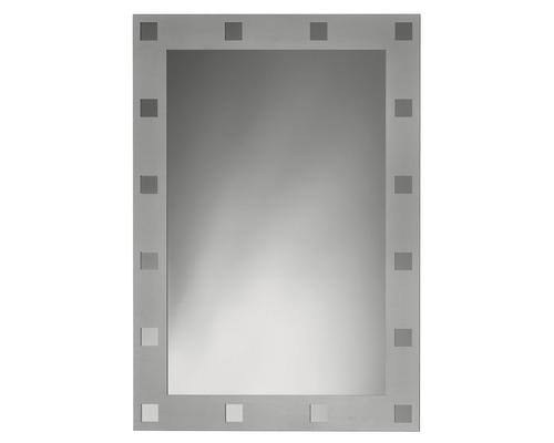 Motivspiegel Contrast silber Eckig 50 x 70 cm
