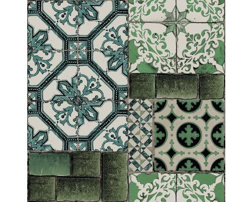 Papier peint intiss carrelage du portugal bleu vert for Carrelage du portugal