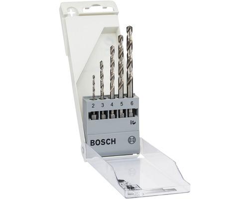 Jeu de forets à métaux 6 pans Bosch 5 pièces