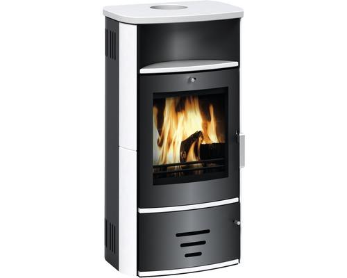 Poêle de cheminée Modena 2.0 céramique blanc 6KW