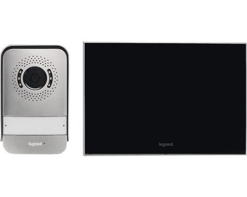 "Interphone kit vidéo 7"" effet miroir 2fils Legrand 369220"