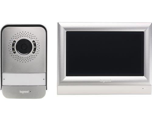 "Interphone kit vidéo écran tactile 7"" 2 fils Legrand 369320"