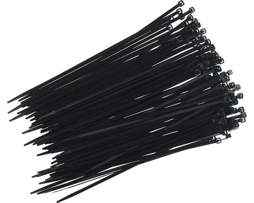 Serre-câbles résistant aux UV noir 250x4,8mm 100 pièces Haupa 262618