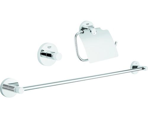 Ensemble pour salle de bains Grohe Essentials Guest 3 parties chrome 40775001