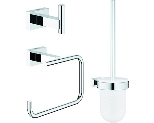 Kit WC Grohe Essentials Cube City 3 parties chrome 40757001