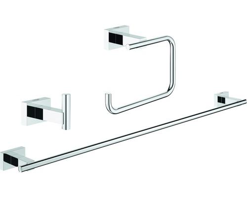Ensemble pour salle de bains GROHE Essentials Cube 3 en 1 chrome 40777001
