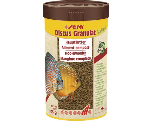 Aliment composé granulés sera Discus 250 ml