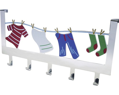 Garde-robe à crochets multicolore, bariolé quintuple