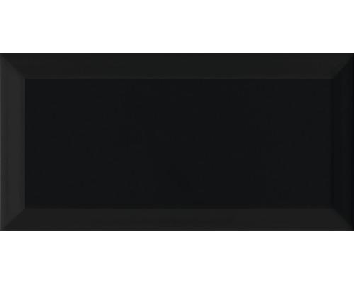 Carreaux à facettes Métro noir 10x20 cm