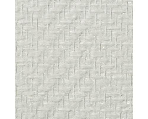 Papier peint en fibres de verre MODULAN à chevrons (160 gr/m²) blanc 1 x 25m